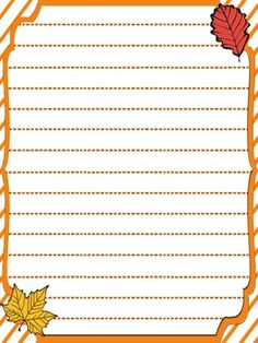 000 Free Printable Fall Themed Writing Paper Writing Lined