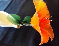 How to make nylon flower lily | Craftionary