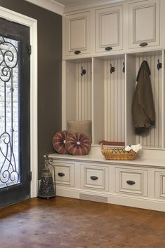 Laundry room/mudroom entry 20 Front Hall Organization and Inspiration Ideas - Exterior and Interior design ideas Home Design, Interior Design, Design Ideas, Floor Design, Interior Doors, Front Hallway, Garage Entry, Door Entry, Front Entry