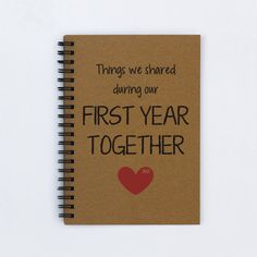 Things We Shared During Our First Year by FlamingoRoadJournals
