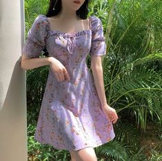 Pandelia Floral Print Short-Sleeve Mini A-Line Dress Classy Outfits, Pretty Outfits, Cute Outfits, Sexy Dresses, Casual Dresses, Short Sleeve Dresses, Corset Dresses, Long Sleeve, Ulzzang Fashion