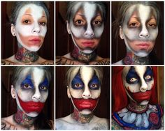 Terrifying but incredible face painting by Michelle MoreGore