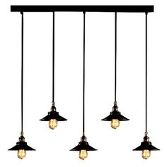 This gorgeous Industrial rustic Edison Bulb Adjustable Pool Table Light includes 53 inches of wire, so it's fully adjustable to suit your living space. Five bla