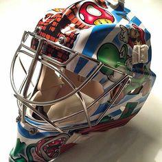Hockey Helmet, Hockey Goalie, Ice Hockey, Football Helmets, Montreal Canadiens, Goalie Mask, Masked Man, Airbrush, Nhl