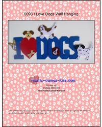 Everything Plastic Canvas - I Love Dogs Wall Hanging