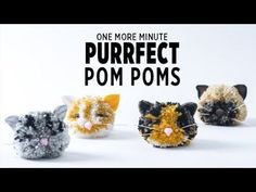 One More Minute: Cat Pom Poms - DIY pom poms - cat crafts - pom pom crafts Cat Crafts, Craft Stick Crafts, Sewing Crafts, Crafts For Kids, Craft Ideas, Pom Pom Tutorial, Pom Pom Animals, Boyfriend Crafts, Pom Pom Crafts