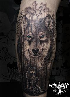 Wolf realistic tattoo by Crazy Tattoo - bjncrazy
