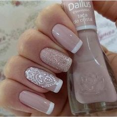 27 best ideas for nails art french manicure ongles French Nail Designs, Nail Art Designs, Love Nails, Pretty Nails, Ongles Beiges, Nail Deco, Wedding Nails Design, Perfect Nails, French Nails