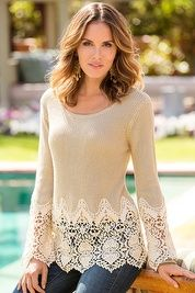 Chunky crochet sweater