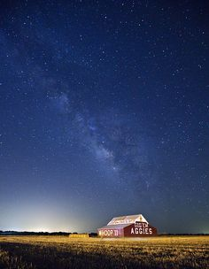 The Aggie Milky Way by Doug Klembara, via Flickr