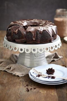 Treat yourself by whipping up Nomu's scrumptious Chocolate Almond Bundt Cake with Chocolate Ganache Cocoa Recipes, Cake Recipes, Dessert Recipes, Desserts, Chocolate Ganache, Chocolate Chip Cookies, Brownies, Soda Cake, Cake Day