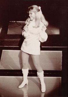 Nancy Sinatra and her Boots onstage