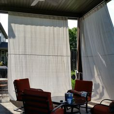 Outdoor Sun Shade Drop Cloths House And Home Curtains Insulated Blinds Draping