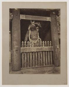 Nikko. Strażnik z bramy Niomon świątyni Toshogu, 1888-1889