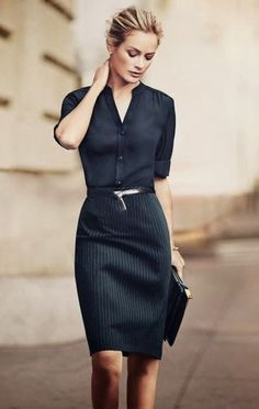 Wear to Work Outfit Ideas. Womens Casual Office Fashion ideas and dresses. Womens Work Clothes Trending in 34 Outfit ideas. Office Attire, Office Outfits, Work Attire, Mode Outfits, Office Wear, Fall Outfits, Casual Office, Skirt Outfits, Black Outfits