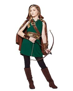 Tween Robin Hood Costume - Spirithalloween.com  sc 1 st  Pinterest & Sheu0027ll look just like the storybook character in this girlu0027s Miss ...