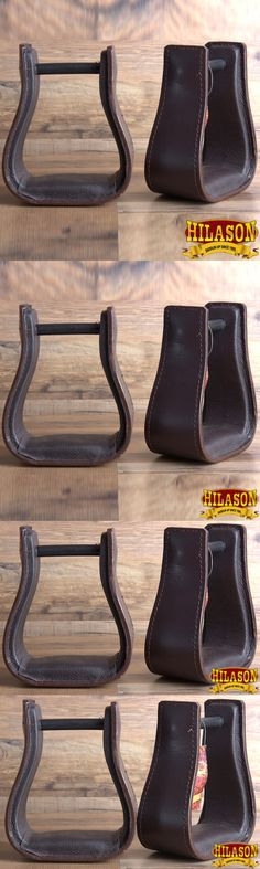 Stirrups 183379: Hilason Western Saddle Dark Brown Leather Covered Horse Saddle Stirrups Pair -> BUY IT NOW ONLY: $84.95 on eBay!