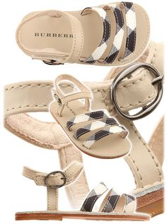 """The famous brand """"Burberry"""" is presenting a very nice kids shoes collection for both girls and boys. For girls, Burberry offers sabots, sandals, ballerinas and sneakers. All are made of leather and fabrics in the famous Burberry pattern & colors. Burberry Kids, Burberry Shoes, Toddler Fashion, Boy Fashion, Burberry Pattern, Blue Nose Friends, Shoe Pattern, Little Girls, Baby Girls"""