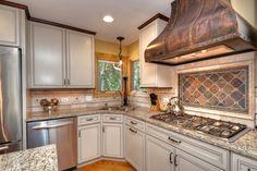 Good-Looking-Copper-Range-Hoods-mode-Chicago-Traditional-Kitchen-Innovative-Designs-with-beige-cabinet-beige-drawer-beige-tile-backsplash-brown-tile-stove- ...