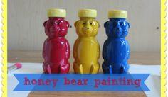 Use empty honey bear bottles for paint!