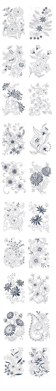 Amazing Emotions - Vintage Florals 01 Machine Embroidery Designs --- Vintage Florals 01 These fabulous vintage floral designs can add supreme beauty to your products like bed linen, bath linen, kitchen linen, curtains and even dresses. You can notice the variety in the floral designs For more details visit www.embroideryemo...