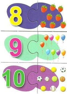 Autismo. Schede didattiche per rendere la Matematica divertente | autismocomehofatto Free Printable Puzzles, Printable Preschool Worksheets, Fun Worksheets, Kindergarten Worksheets, Numbers Preschool, Learning Numbers, Preschool Math, Image Pinterest, Math Blocks