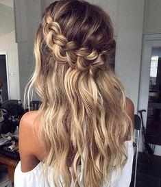 Half Up Crown Braid For Long Hair hair styles 60 Breezy Crown Braid Hairstyles for Summer Hairstyles Haircuts, Summer Hairstyles, Cool Hairstyles, Hairstyle Ideas, Hairdos, Casual Hairstyles For Long Hair, Hairstyles Pictures, Bangs Hairstyle, Asian Hairstyles