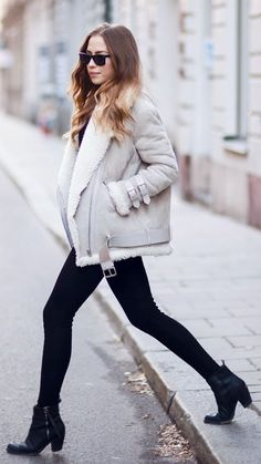 Grey Sheepskin Jacket