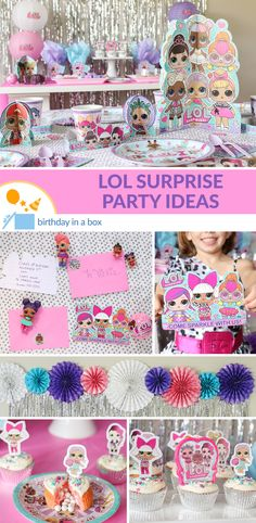The allure of what may be hiding inside an LOL Surprise ball is proving irresistible for little kids so we think this party theme should probably be a surprise party! Birthday Box, 1st Birthday Girls, Surprise Birthday, Birthday Ideas, Glace Diy, Birthday Party Decorations, Birthday Parties, Party Kit, Party Ideas