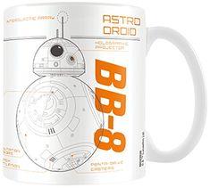 Star Wars BB8 Sketch Ceramic Coffee Tea Mug Gift Idea