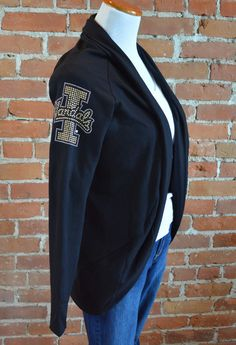 Team 44 Apparel - UNIVERSITY OF IDAHO, COCOON CARDIGAN with Nailhead 'I-Vandals' Logo