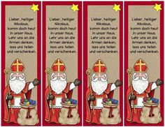 A little something for St. Nicholas Day These bookmarks are … – About Sweets Pre Christmas, German Christmas, St Nicholas Day, Kindergarten Portfolio, Jesus Is Life, Saint Nicolas, Christmas Party Invitations, Craft Activities, Diy For Kids