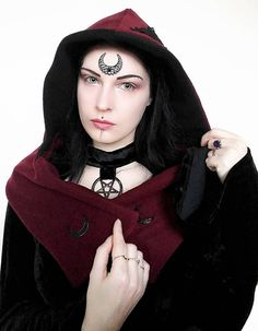 Check out this item in my Etsy shop https://www.etsy.com/uk/listing/584269081/witchy-hoodscarfgothic-hatstrega