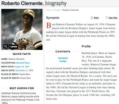 http://www.biography.com/people/roberto-clemente-9250805
