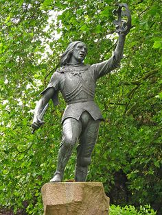 I admire this statue of Richard III, showing him as the warrior he was. I think it may come closest to the real man - he must have been a fierce fighter.      This photo is the best of the statue I have seen so far - I've been there, with all the trees and hedges it is very tricky to take a decent picture, let alone a brilliant one like this.   Thank you, Lawrence OP ;-)     King Richard III by Lawrence OP, via Flickr
