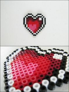 Link to the Past - Heart Container - bead sprite magnet