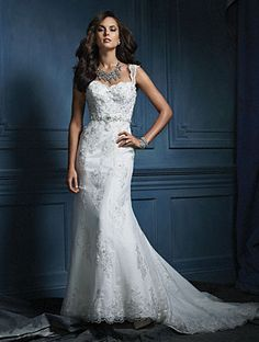 Alfred Angelo Bridal Style 854 from Alfred Angelo Sapphire: Luxe, Unique Bridal Gowns Wedding Dress Styles, Wedding Attire, Bridal Dresses, Wedding Gowns, Bridesmaid Dresses, Lace Wedding, Dress Prom, Mermaid Wedding, Wedding Bells