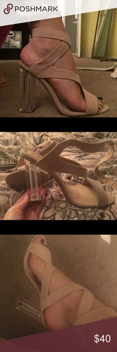 Public desire heels PLEASE BUY!!!!! So cute never worn come with box and in UK public desire Shoes Heels