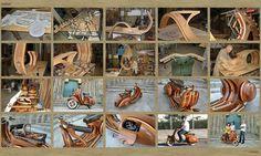 Una Vespa de madera, que belleza!