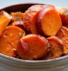 Baked Vegan Sweet Potatoes. Maple. Cinnamon. Citrus.