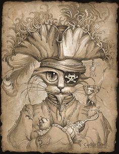 Design Stack: Cats in Drawings, Paintings and Jewelry