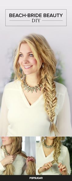 Beach brides! This boxed fishtail DIY is the perfect hair tutorial to try for your wedding day.