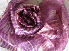 Silk scarf-Handwoven silk scarf-Hand dyed silk scarf-Thai silk-Natural silk-Raw silk-Handmade scarf-Batik silk-Organic silk-Gift for her