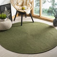 Lissie Hand-Woven Moss Green Area Rug