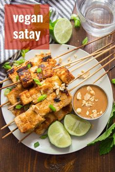 This flavor-packed vegan satay is made with skewered tofu cubes that are soaked in zesty lemongrass marinade, baked and served with luscious peanut dipping sauce! A delicious Thai inspired main dish… More