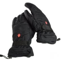 Ivation Heated Gloves, Electric Rechargeable Fleece lined with 3 LED Temperature Control Levels, Includes 2 Li-Ion Batteries for Quick & Even Heating, Adjustable Elastic & Velcro Band, Works up to 8 hours Insulated Gloves, Waterproof Liner, Motorcycle Gloves, Mens Gloves, Outdoor Survival, Keep Warm, Hand Warmers, Winter Season, Electric