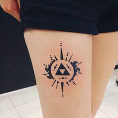 25 Mighty Triforce Tattoo Designs & Meaning - Discover The Golden Power Check more at http://tattoo-journal.com/best-triforce-tattoo/