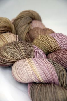 Buffy Toughie Sock Yarn - Fading Petals ~ Juno Fibre Arts (UK)