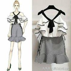 New fashion design sketches dresses shops 27 ideas Cute Fashion, Asian Fashion, Look Fashion, Trendy Fashion, Girl Fashion, Fashion Trends, Holiday Fashion, Fashion Drawing Dresses, Fashion Illustration Dresses