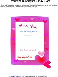 Valentine's Day Bubblegum Candy Gram